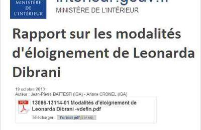 RAPPORT SUR LES MODALITES D'ELOIGNEMENT DE LEONARDA DIBRANI
