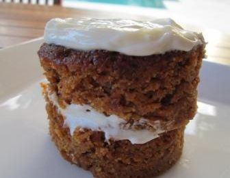 Carrot cake double cream cheese