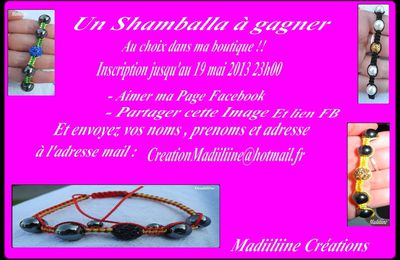 Un give away sur ma page Facebook