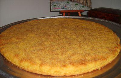 Harcha au semoule de blé et maïs (galette de semoule)
