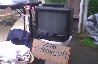 Brocante d' Outrebois -le 08-07 2012 - Sony ou sanibroyeur ?!
