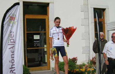 Greta RICHIOUD en route pour le championnat de France.