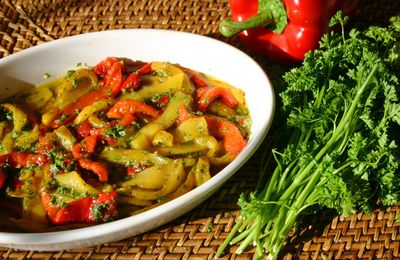 Poivrons marines (marinated peppers)