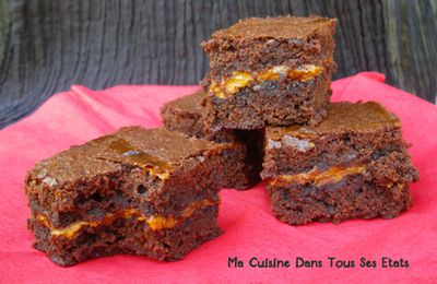 Brownie à la confiture de lait
