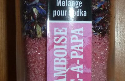 Vodka framboise-barbe à papa.