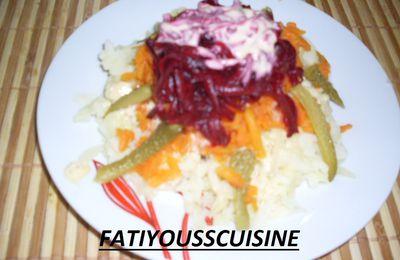 salade de legumes râpé