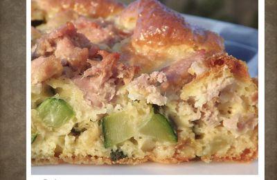 Gâteau léger thon et courgettes