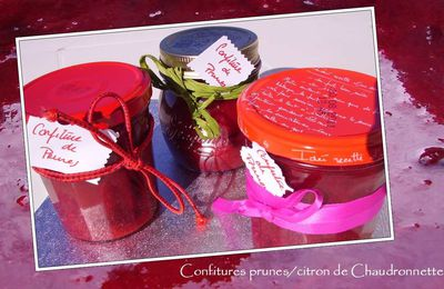Confiture prunes et citron