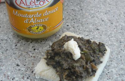Toast au champignons moutardée