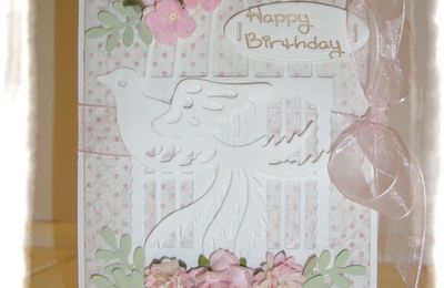 folding card de février - passion shabby