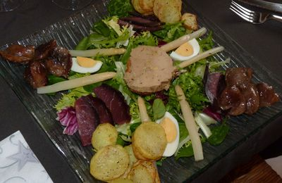 Salade autour du canard