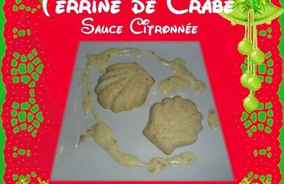 Terrine de crabe, Sauce au citron et à la moutarde d'algues