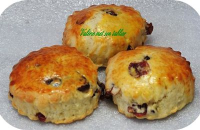 scones aux crannberries