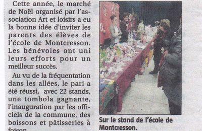 Marché de Noël à Montcresson : photos du 14 décembre 2014