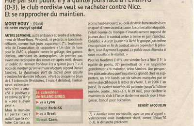Article du journal L'Equipe du 29 04 2012