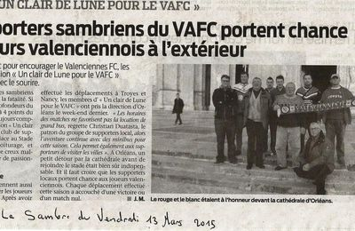 "Article du journal ""LA SAMBRE"" du vendredi 13 03 2015"