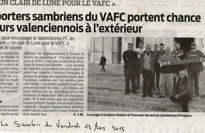 """Article du journal """"LA SAMBRE"""" du vendredi 13 03 2015"""