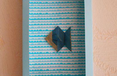 DIY - Cadre poisson tout en papier