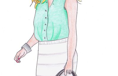 A working girl - version crayons de couleur