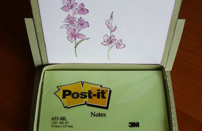 "carte bloc post it et tuto ""Stamp-a-ma-jig"""