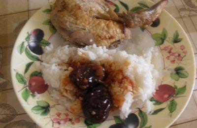 poulet roti farcis aux pruneaux