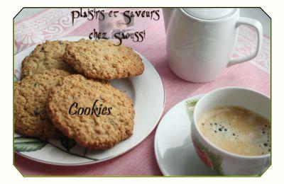 Cookies aux flocons d'avoine et pépite de chocolat