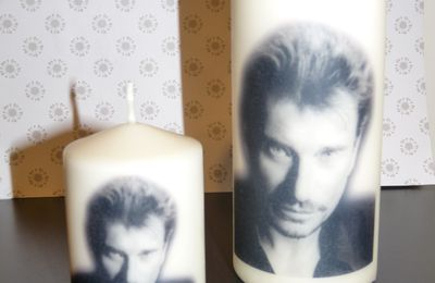 Bougies de Johnny Hallyday