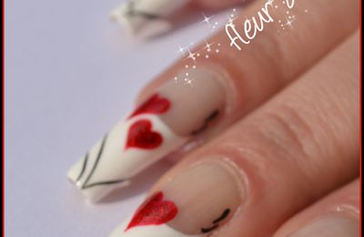 Nail Art - French St Valentin