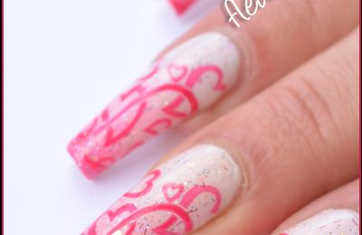 Nail Art St Valentin girly