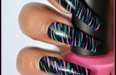 Nail Art facile multicolore (+tutoriel )
