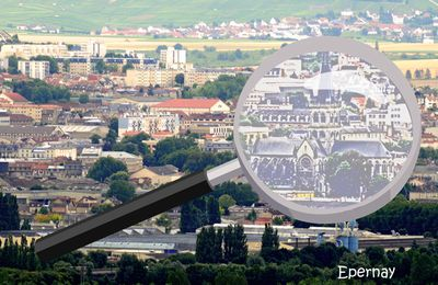 EPERNAY ( Marne ), aperçu depuis HAUTVILLERS.
