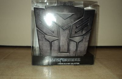 Coffret collector blu ray Trilogie Transformers