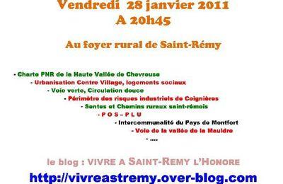 Sauvegarde de Saint-Rémy l'Honoré, AG le 28 janvier 2011