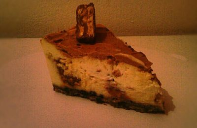 Cheesecake aux snickers et chocolat milka