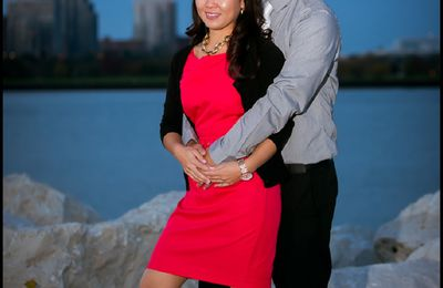 Amanda and Sean engagement session in Milwaukee