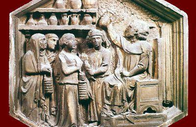 Arte & scienza. Formella del XIV secolo del campanile di Giotto raffigurante uno studio medico.