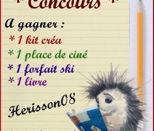 Plein de concours chez Herisson08 :)