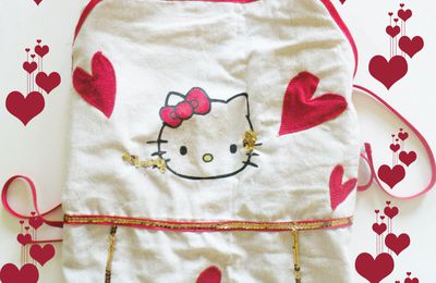 Tablier de Cuisine Hello Kitty