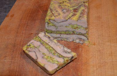 Terrine de foie gras à la pistache
