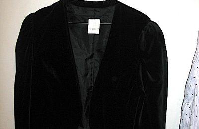 Bolero veste en velours noir vintage