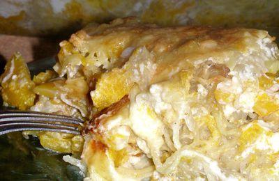 Gratin de courge butternut & pomme de terre