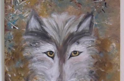 "Tableau contemporain ""Yellow Eyes"""