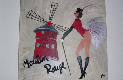 "Tableau ""Spectacle au Moulin Rouge"""