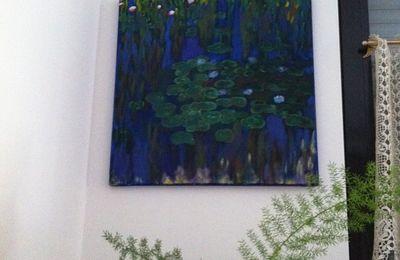 """Tableau """"Les Nymphéas"""" de Monet, accroché!"""