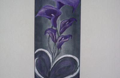 "Tableau contemporain ""Flowers in Love"""