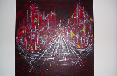 "Tableau abstrait ""The Red City"""
