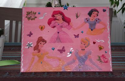 serviettage Princesse Disney