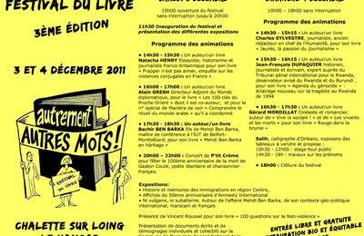 FESTIVAL DU LIVRE : programme 2011