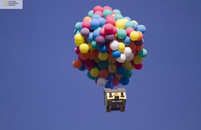 """Up"" house recreated in real life ."