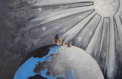 ils attendaient, assis au bord du monde...(n.d)